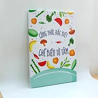 Tranh slogan canvas tạo động lực [trang trí nhà hàng, quán ăn, bếp ăn, homestay] RV017 Công thức đặc biệt chế biến từ tâm Cocopic