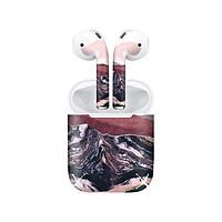 Miếng dán skin chống bẩn cho tai nghe AirPods in hình giả sơn mài - GSM023 (bản không dây 1 và 2)