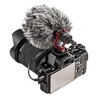 Micro Thu Âm BOYA BY-MM1(Kèm giá đỡ Thông Minh) Cho Máy Ảnh DSLR, Mirroless, Smartphone - Hàng Chính Hãng