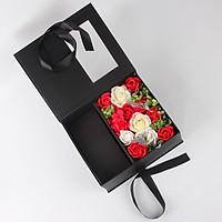 Hộp quà hoa hồng sáp Love forever 25,5x22x11cm