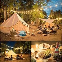 Đèn LED USB bóng tròn 40 bóng dài 6m chống thấm nước dùng trang trí lều trại và nhà ở