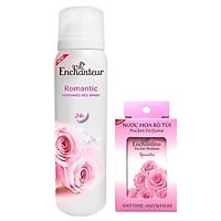 Combo xịt khử mùi toàn thân Enchanteur Romantic 150ml+ Nước hoa bỏ túi Romantic 18ml