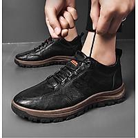 Giày thể thao nam da mềm buộc dây nam đế 2 lớp bảo hộ đôi chân G182