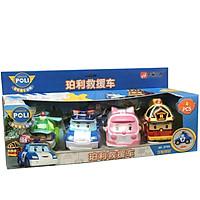 Đồ chơi trẻ em Đội xe Robocar Poli và những người bạn - Bộ 4 con