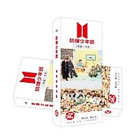 Bookmark BTS in hình nhóm nhạc Hàn Quốc hộp ảnh 36 tấm đánh dấu trang in hình tặng thẻ Vcone
