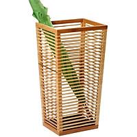 Sọt đựng dù gỗ mật hồng tự nhiên, thiết kế đơn giản, đa chức năng, chất liệu gần gũi