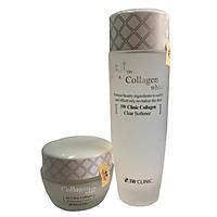 Combo Nước Hoa Hồng Dưỡng Trắng Da 3W Clinic Collagen White 150 ml Và Kem Dưỡng Trắng Sáng Tái Tạo Da 3W Clinic Collagen Regeneration Cream( 60ml)