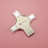 Flashdrive USB 2.0 nhôm đa năng 4 trong 1 (Micro USB, Type C, Lightning)