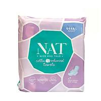 Băng vệ sinh NAT dành cho ban đêm 7 miếng / gói- 100% bông hữu cơ