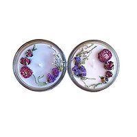 Combo 2 nến thơm tinh dầu 100g: 1 lavender, 1 hoa anh đào, giúp thư giãn, thơm phòng khử mùi, handmade