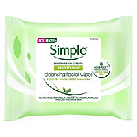 Giấy tẩy trang Simple Kind to Skin Cleansing Facial Wipes