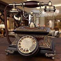 ĐIỆN THOẠI TÂN CỔ ĐIỂN DT16 bàn phím quay chuông thanh, dùng được nghe gọi âm thanh rõ ràng. Điện thoại để bàn tân cổ điển- Điện thoại bàn chất liệu gỗ để trang trí