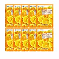 Bộ 10 Gói Mặt Nạ Dưỡng Da Mịn Màng 3D Foodaholic Orange Natural Essence Mask 23ml x10