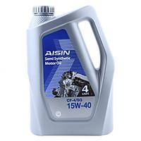 Nhớt Động Cơ AISIN ECSF1544P 15W-40 CF4 / SG Semi Synthetic (4L)