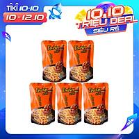 Lốc 5 Gói Lớn Snack Bim Bim Bánh Tăm Que Dorkbua Lotus Vị Thịt Heo Xông Khói Cam (55g /gói) Nhập Khẩu Từ Thái Lan, Không Chất Bảo Quản, Ăn Là Ghiền