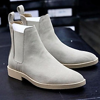 Chelsea Boots Da Lộn Tan