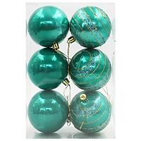 Hộp 6 Trái Châu Trang Trí Noel 4522 - Màu Xanh Ngọc