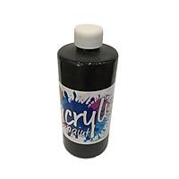 Chai Màu Vẽ Acrylic-300Ml - Màu Đen