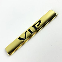 Tem kim loại chữ nổi VIP dán trang trí ô tô (Màu Gold)