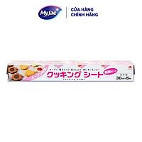 Giấy nến Nhật Bản dạng răng cưa 30cmx5m kèm nướng bánh chống dính chịu nhiệt