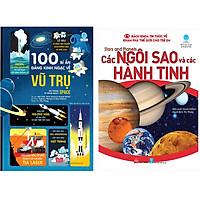 Combo 2 Cuốn: 100 Bí Ẩn Đáng Kinh Ngạc Về Vũ Trụ + Bách Khoa Tri Thức Về Khám Phá Thế Giới Cho Trẻ Em - Stars And Planets - Các Ngôi Sao Và Các Hành Tinh