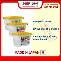 Combo 3 hộp hút ẩm 450ml nội địa Nhật Bản
