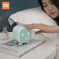 Xiaomi Đồng hồ báo thức Led Hoạt hình Điều khiển bằng giọng nói Có hẹn giờ Ánh sáng ban đêm Đào tạo giấc ngủ cho trẻ em với màn hình hiển thị nhiệt độ