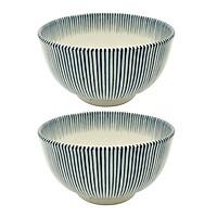 Combo 2 bát ceramic men lam sọc dọc cao cấp - Hàng Nội Địa Nhật