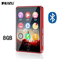 RUIZU M7 Metal Bluetooth 5.0 MP4 Player 8GB/16GB MP3 Music Player 2.8 Inch Full Touch Screen Portable Mini HIFI Lossless Video Player Support E-Book Voice Recording Pedometer A-B Repeat Alarm Clock Built-in Speaker