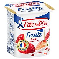 Sữa chua ít béo Elle&Vire vị dâu tây 125g