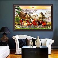 Tranh MÃ ĐÁO THÀNH CÔNG in trên giấy ảnh với 2 lựa chọn bề mặt cán PVC gương hoặc cán bóng kính, Mã số: 00401407L12