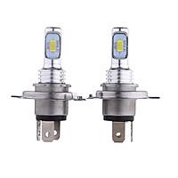 1 Pair Highlighting LED Car Bulb White Light H4 100W 3570 CSP Decode Foglamp Motorcycle Headlight