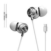 Tai nghe earphone thể thao nhét tai có dây Plextone X56M Sports USB Type-C(nghe nhạc chất lượng cao) dùng cho chạy bộ, dây phone có nút chuyển bài, Micro đàm thoại HD, màng loa phủ Nano chống nước IPX-4 kèm nhiều phụ kiện. - Hàng Chính Hãng.