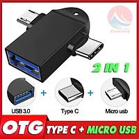 OTG Type C Micro USB 3.0 Đa Năng 2 in 1, Kết Nối Thiết Bị Ngoại Vi, cáp chuyển đổi otg type c, otg type c usb, otg android micro usb