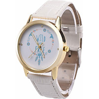 Quartz Watch Wristwatches Casual PU Leather 3 Colors Pointer Young Man Woman