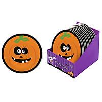 Đĩa Giấy Dùng Tiệc Bí Ngô 18cm 12 Cái - Đồ dùng tiệc Halloween UBL UH03003