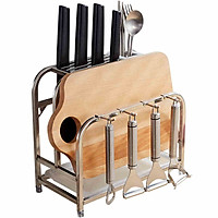 Kệ treo, để đồ dao thớt đũa  HC chất liệu INOX 304 ( 100%) chống bám bẩn (hàng nhập khẩu cao cấp)
