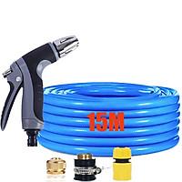 Bộ dây và vòi xịt rửa xe tưới cây tăng áp 15M(cút nhựa nối đồng nhựa) 206817