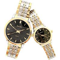 Cặp Đồng Hồ Nam Nữ Halei HL552 (Tặng pin Nhật sẵn trong đồng hồ + Móc Khóa gỗ Đồng hồ 888 y hình + hộp chính hãng)