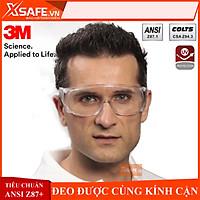 Kính bảo hộ chống hóa chất 3M Tour-Guard V Mắt kính chống bụi, chống tia UV, chống đọng sương, đeo được cùng kính cận