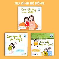 Sách thơ cho bé - Bộ Gia đình Bé Bỏng - Truyện tranh cho trẻ tập nói, mầm non từ 0-1-2-3-4-5-6 tuổi (Sách Đọc to gắn kết tình cảm gia đình)