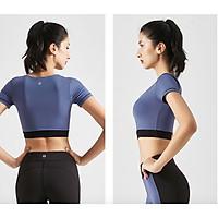 Set bộ đồ tập Yoga ,Gym, Aerobic Cao Cấp co giãn 4 chiều, Thấm hút mồ hôi tốt  - B41 ( set gồm:  Áó có kèm mút + quần cạp cao)- New 2020