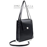 Túi xách nữ/ 1992 s t u d i o/ RELICA BAG/ túi xách nữ đeo vai, đeo chéo, size lớn, màu đen, không đựng vừa laptop