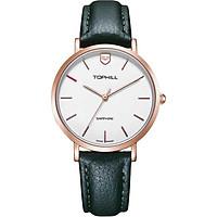 Đồng hồ nữ dây da chính hãng Thụy Sĩ TOPHILL TS007L.PG3252