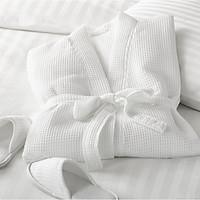 Áo choàng tắm Kimono dệt 100% cotton, áo choàng tắm khách sạn, Spa, Homestay