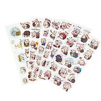 Bộ 6 tấm sticker dán trang trí (Ốc sên)