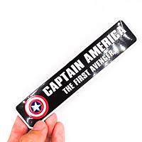 Captain America The First Avenger hình chữ nhật dài - Sticker metal 3D hình dán kim loại
