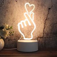 Đèn ngủ Mica tạo hình 3D độc đáo 20x15x5cm