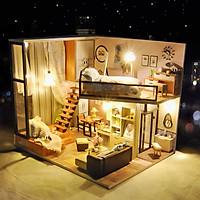 Mô hình nhà DIY Doll House Attic Dream Kèm Mica Chống bụi