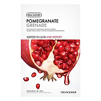 Mặt Nạ Giấy The Face Shop Real Nature Pomegranate Face Mask 32500400 (20g)